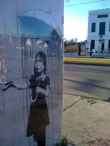 banksy graffiti art on st claude ave