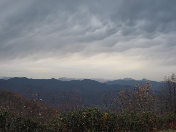 dusk, southern appalachians, western n. carolina